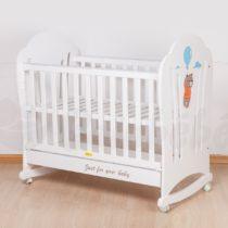 Lit à Barreaux Blanc 120×60 cm Avec Matelas bébé
