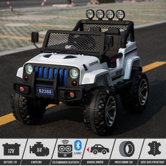 Voiture à batterie – Mega Jeep 180W