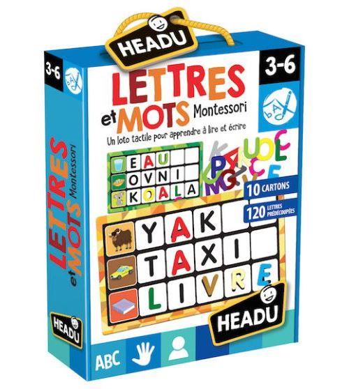 Jeu découverte Headu Lettres et Mots Montessori