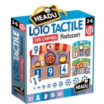 Jeu découverte Headu Loto tactile des chiffres 1,2,3 Montessori