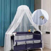 Ciel de lit / moustiquaire bébé avec support
